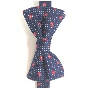 Tommy Hilfiger Accessories - Tommy Hilfiger Kids Bow Tie Navy Blue Red Paisley